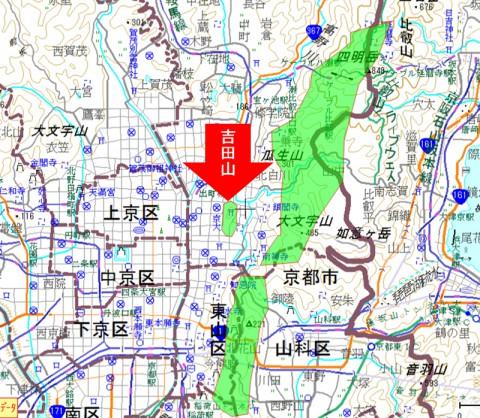 吉田山の位置