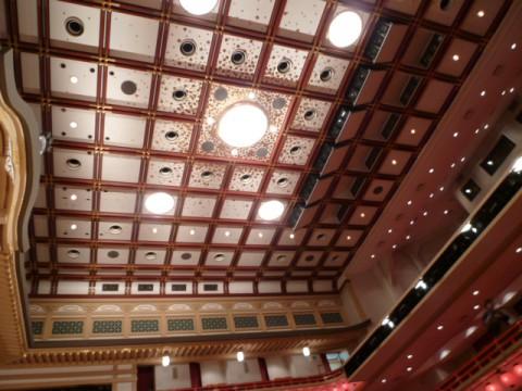 華やかな天井・照明も撮っておこう。