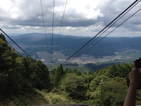 比叡山頂からの景色。これだけの高さまで登ってきました!