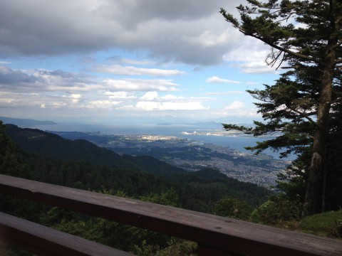 展望台からの景色。曇りでしたが、すごくキレイでした。